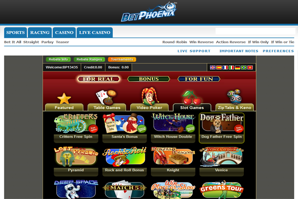 BetPhoenix Casino screen shot