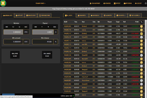 Crypto Games screen shot