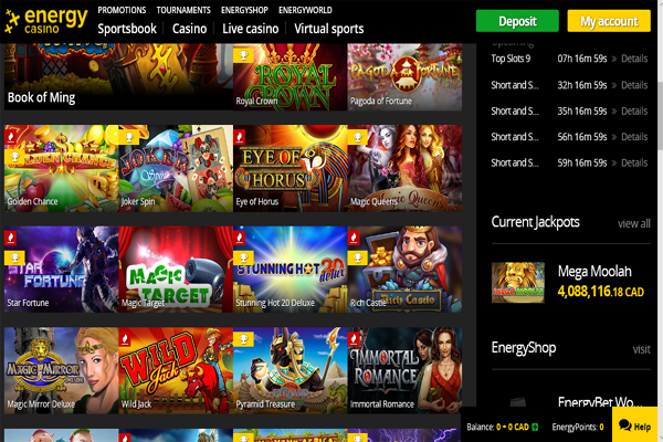 EnergyCasino screen shot