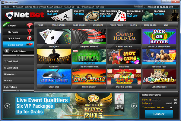 NetBet Casino screen shot