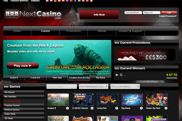 Next Casino screen shot