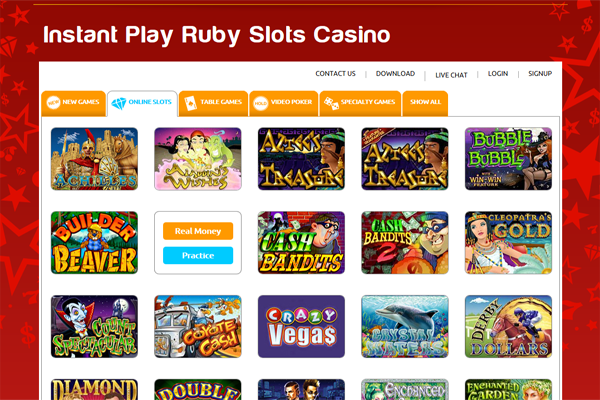 Ruby Slots screen shot