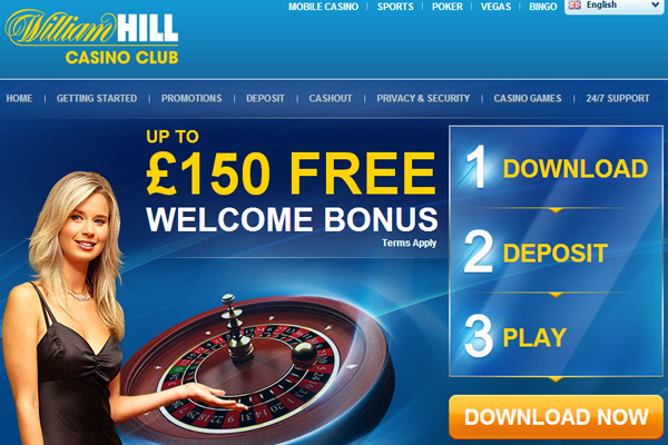 william hill casino welcome bonus
