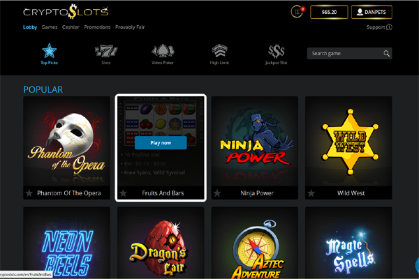 Crypto Slots screen shot